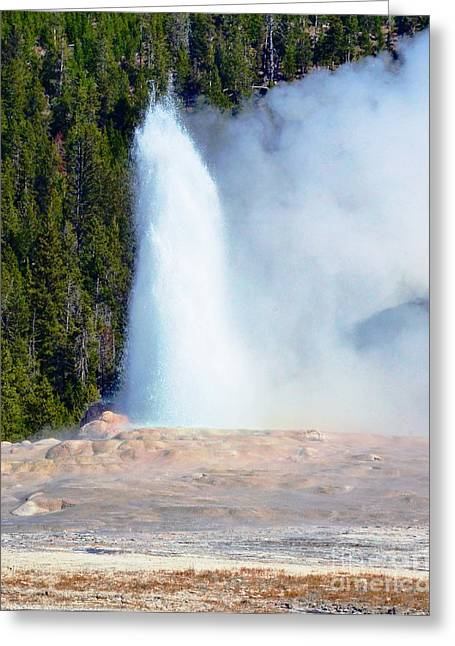 Temperature Greeting Cards - Old Faithful Geyser #8 Greeting Card by Kathleen Struckle