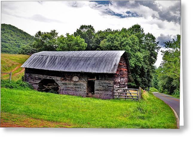Franklin Farm Greeting Cards - Old Farm Barn Greeting Card by Savannah Gibbs
