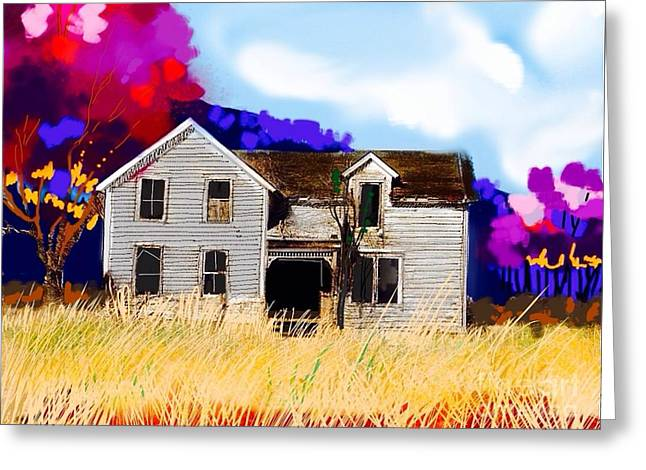 Clapboard House Mixed Media Greeting Cards - Old farm house Greeting Card by Craig Nelson