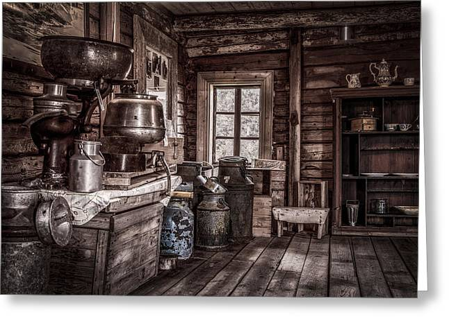 Barrel Greeting Cards - Old Farm House Greeting Card by Erik Brede