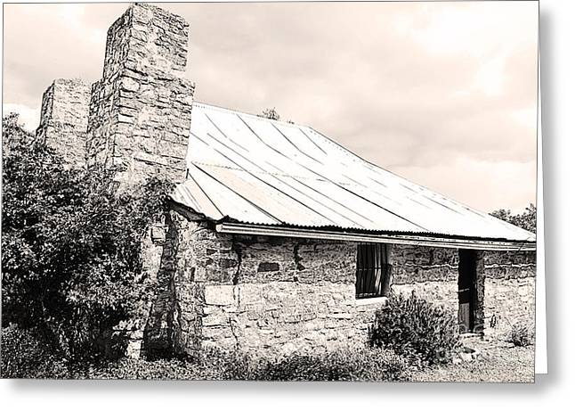 Stone Chimney Greeting Cards - Old Farm House Greeting Card by Phill Petrovic