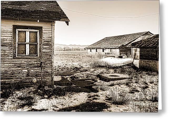 Old Farm Greeting Card by Baywest Imaging