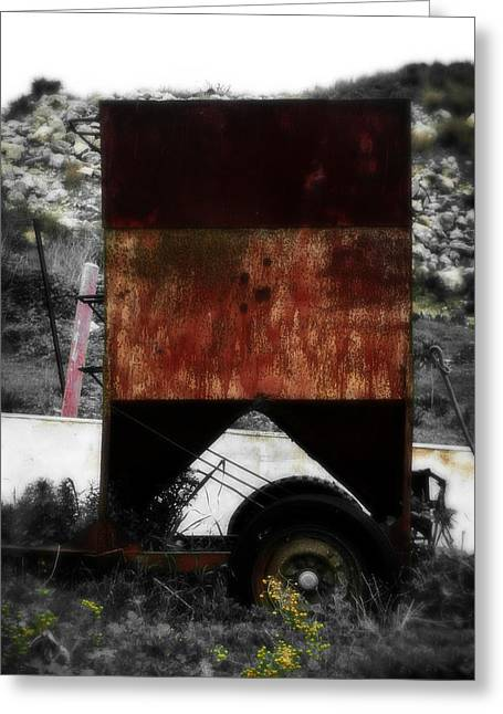 Junk Mixed Media Greeting Cards - Old Farm Machinery - Series III Greeting Card by Michael Braham