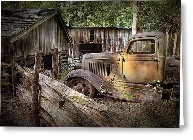 Randy Greeting Cards - Old Farm Pickup Truck Greeting Card by Randall Nyhof