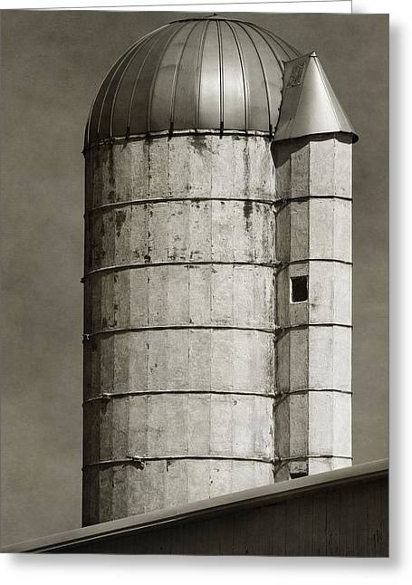 Old Barns Greeting Cards - Old Farm Silo Greeting Card by Dan Sproul