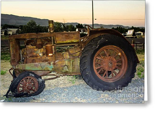 Virginia Postcards Greeting Cards - Old Farm Tractor HART PARR Reno NV part2 Greeting Card by  ILONA ANITA TIGGES - GOETZE  ART and Photography