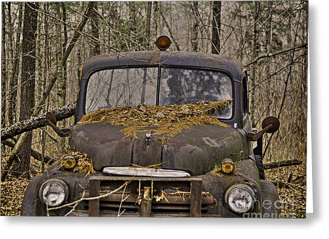 Maine Farms Greeting Cards - Old Farm Truck Greeting Card by Alana Ranney