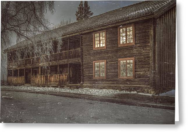Shack Greeting Cards - Old Farmers House Greeting Card by Erik Brede