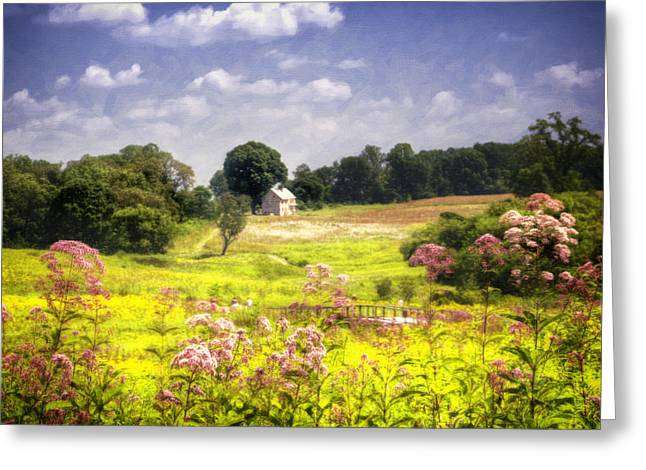 Reminiscent Greeting Cards - Old Farmhouse at Longwood Gardens Greeting Card by Vicki Jauron
