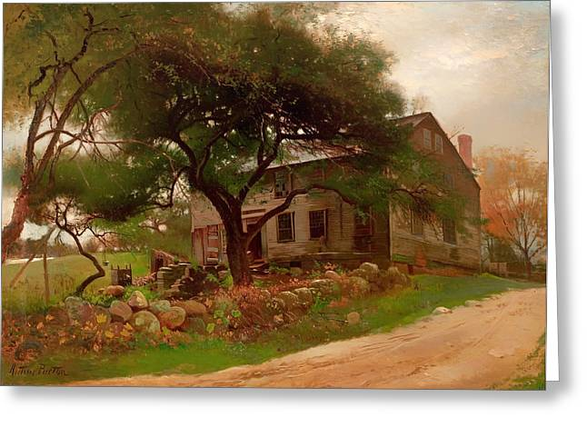 Old Farmhouse In The Catskills Greeting Card by Mountain Dreams
