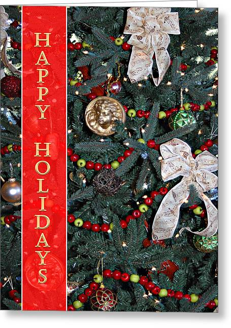 Christmas Greeting Photographs Greeting Cards - Old Fashioned Christmas Greeting Card by Carolyn Marshall