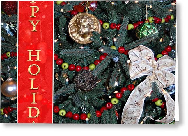Old Fashioned Christmas Greeting Card by Carolyn Marshall