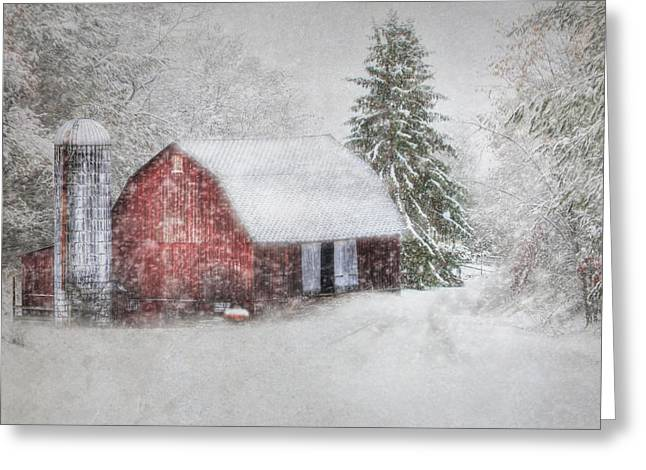 Barn Digital Greeting Cards - Old Fashioned Christmas Greeting Card by Lori Deiter