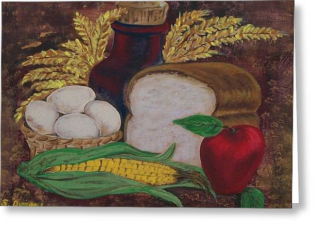 Bakery Poster Greeting Cards - Old Fashioned Goodness Greeting Card by Sharon Duguay