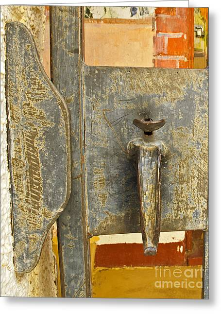 Youthful Greeting Cards - Old Fashioned Lock Greeting Card by Kelly Holm
