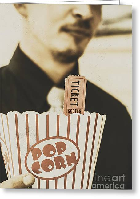 Old-fashioned Movies Greeting Card by Jorgo Photography - Wall Art Gallery