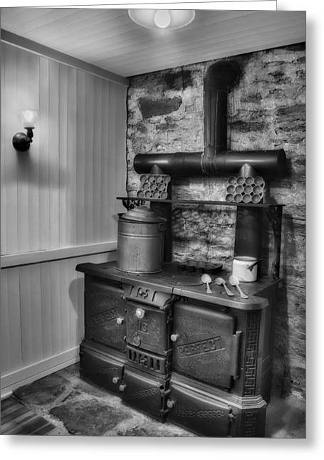 Worn Greeting Cards - Old fashioned Richardson and Bounton Company Perfect stove. Greeting Card by Susan Candelario