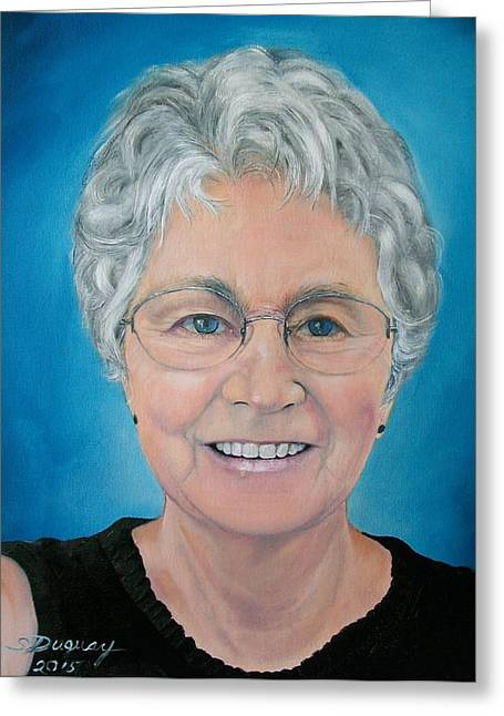 Gray Hair Greeting Cards - Old Fashioned Selfie Greeting Card by Sharon Duguay