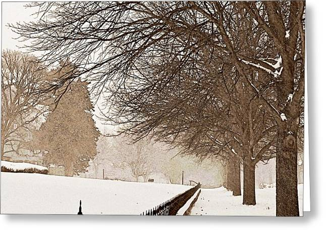 Old Fashioned Winter Greeting Card by Chris Berry