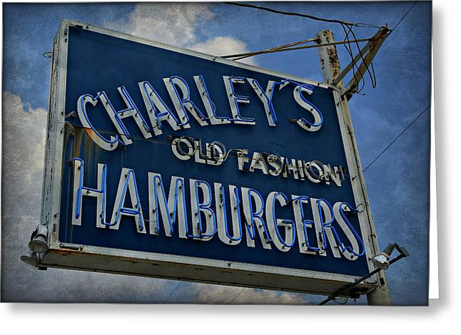 Old Fasion Hamburgers Greeting Card by Stephen Stookey