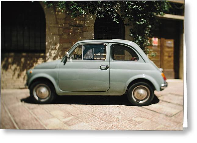 Old Fiat Greeting Card by Clint Brewer