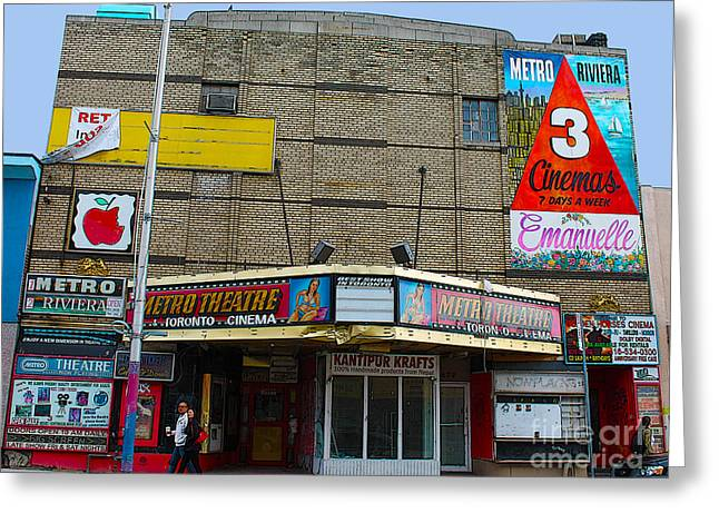 Old Film Theatre In Decay Greeting Card by Nina Silver