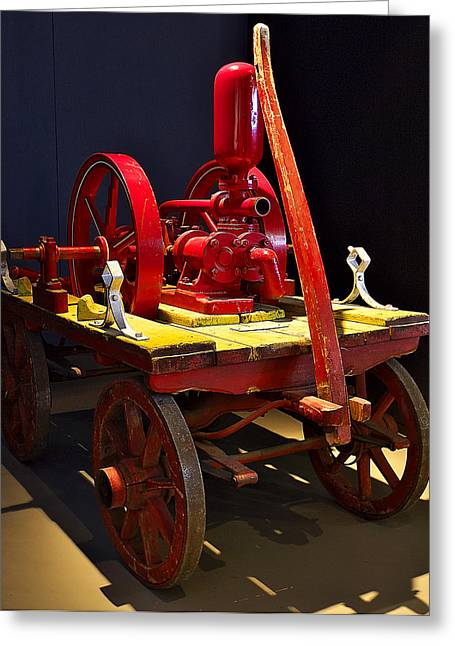 Brigade Greeting Cards - Old fire pump Greeting Card by Ivan Slosar