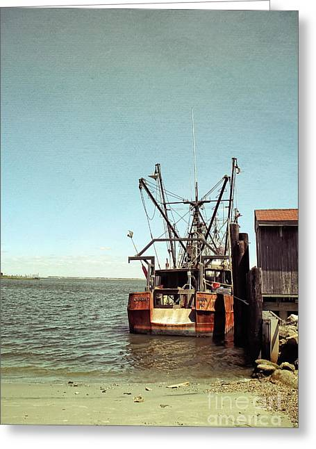 Original Photographs Greeting Cards - Old Fishing Boat Greeting Card by Colleen Kammerer