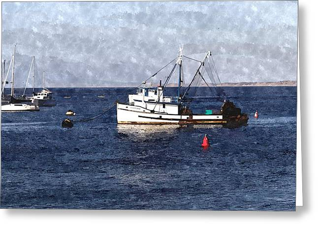 San Francisco Bay Greeting Cards - Old Fishing Boat Greeting Card by Scott Hill