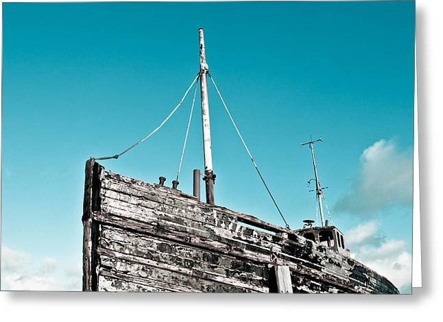 Old Relics Greeting Cards - Old fishing boat Greeting Card by Tom Gowanlock