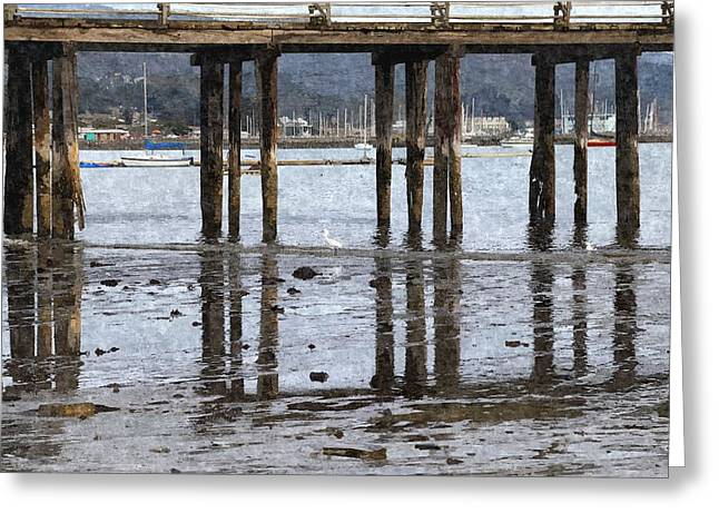 Santa Cruz Pier Greeting Cards - Old Fishing Pier Greeting Card by Scott Hill
