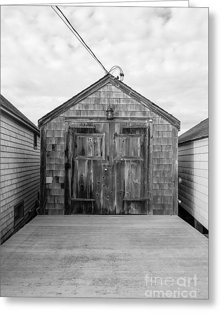 1800s Greeting Cards - Old Fishing Shack Little Boars Head Rye NH Greeting Card by Edward Fielding