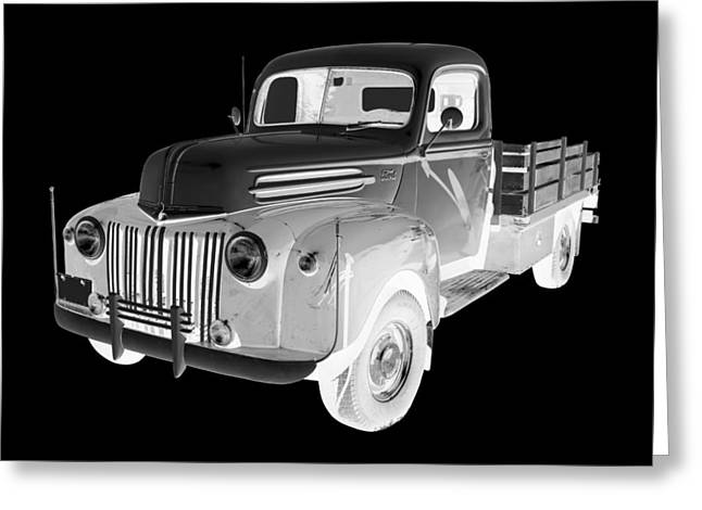 Classic Truck Greeting Cards - Old Flat Bed Ford Work Truck Car Art Greeting Card by Keith Webber Jr