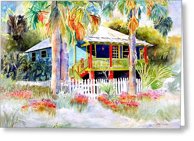 Florida House Greeting Cards - Old Florida House  Greeting Card by Joan Dorrill