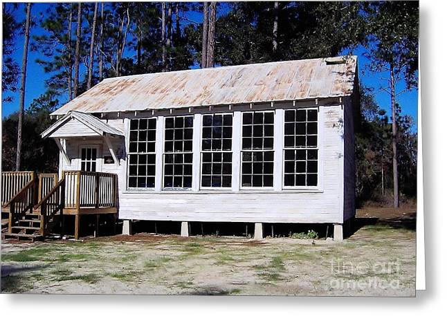 Historic Home Greeting Cards - Old Florida School House Greeting Card by D Hackett