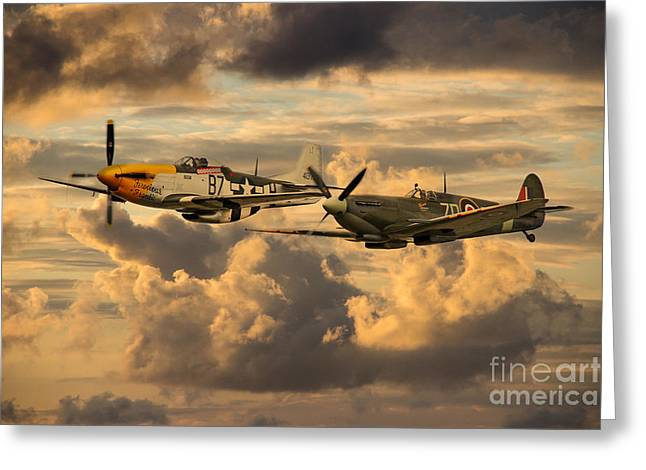 Ferocious Frankie Greeting Cards - Old Flying Machines  Greeting Card by J Biggadike