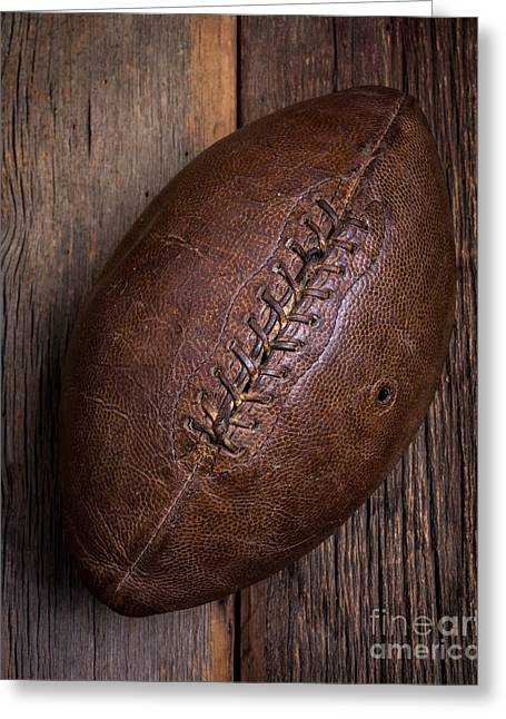 High School Greeting Cards - Old Football Greeting Card by Edward Fielding