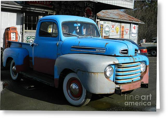 Neurotic Images Photography Greeting Cards - Old Ford Greeting Card by  Chalet Roome-Rigdon