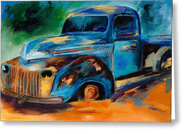 Junk Greeting Cards - Old Ford In the Back of the Field Greeting Card by Elise Palmigiani