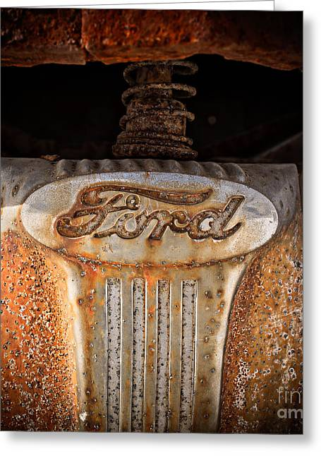 Junker Greeting Cards - Old Ford Square Format Greeting Card by Edward Fielding