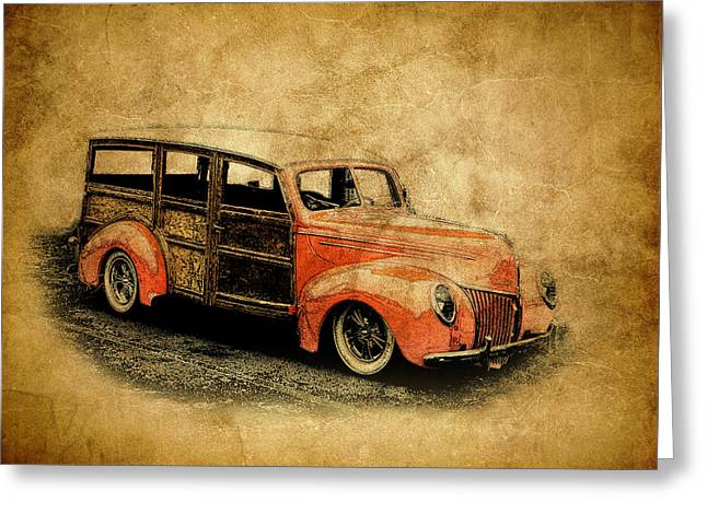 Graffitti Coupe Greeting Cards - Old Ford Woody Greeting Card by Steve McKinzie