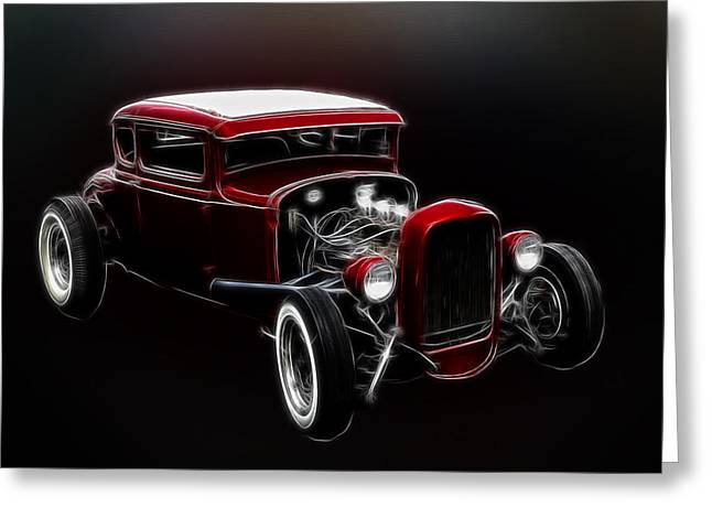 Kustom Kulture Greeting Cards - Old Fords Never Die Greeting Card by Steve McKinzie
