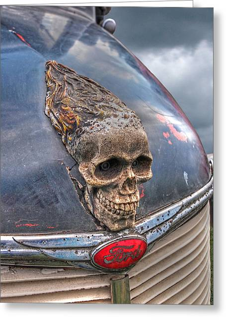 Recently Sold -  - Old Street Greeting Cards - Old Fords Never Die - Vertical Greeting Card by Gill Billington