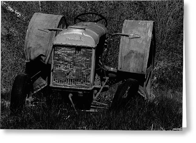 Old Farm Equipment Greeting Cards - Old Fordson Tractor Greeting Card by Jeff  Swan