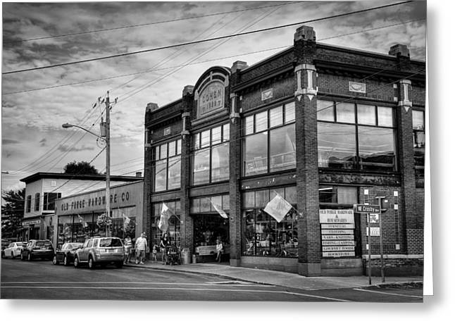 Old And New Greeting Cards - Old Forge Hardware Company Greeting Card by David Patterson