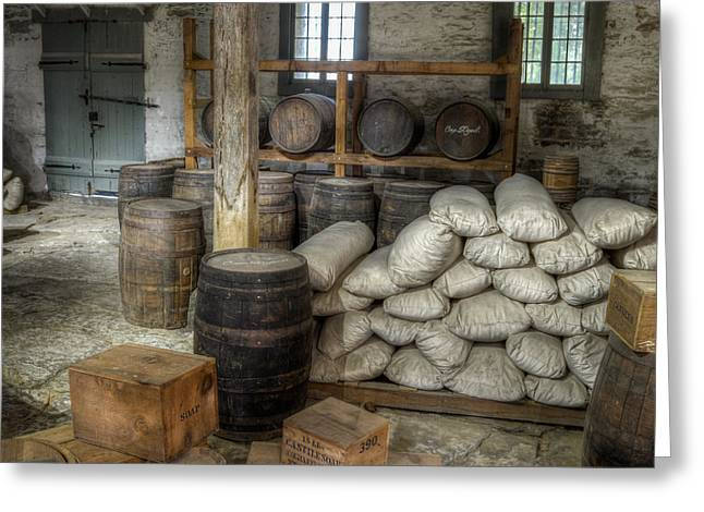 Flour Sack Greeting Cards - Old Fort Commissary Greeting Card by James Barber