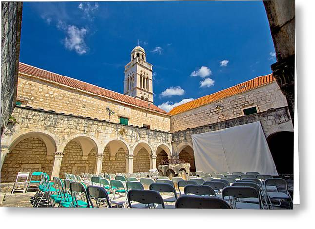 Franciscian Greeting Cards - Old Franciscian monastery of Hvar Greeting Card by Dalibor Brlek