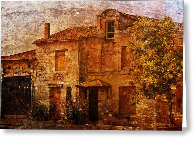 French Doors Greeting Cards - Old French House Greeting Card by Nomad Art And  Design