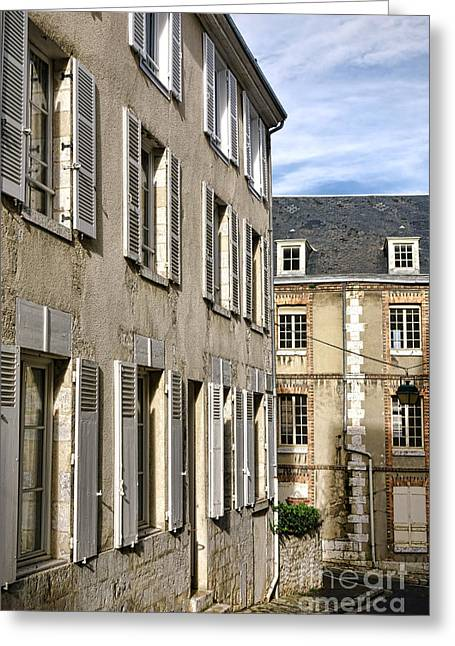 Bygone Greeting Cards - Old French Street Greeting Card by Olivier Le Queinec