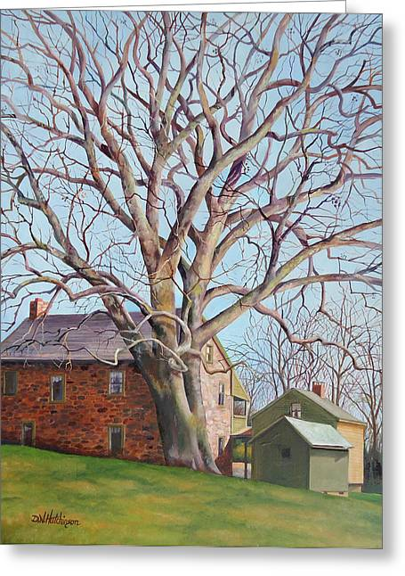 Stone House Paintings Greeting Cards - Old Friends Greeting Card by Diane Hutchinson